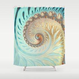 Vanilla Swirl - Fractal Art  Shower Curtain