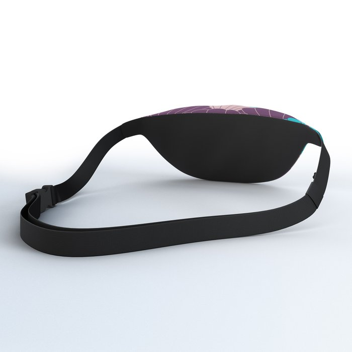 Scallop Abstract - Purple, Pink, Blue Fanny Pack