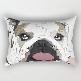 English Bulldog Love Rectangular Pillow