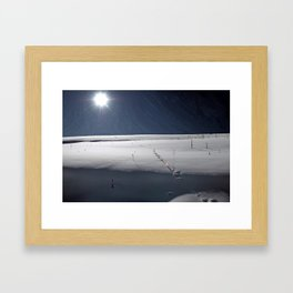 Painted Moonrise Framed Art Print