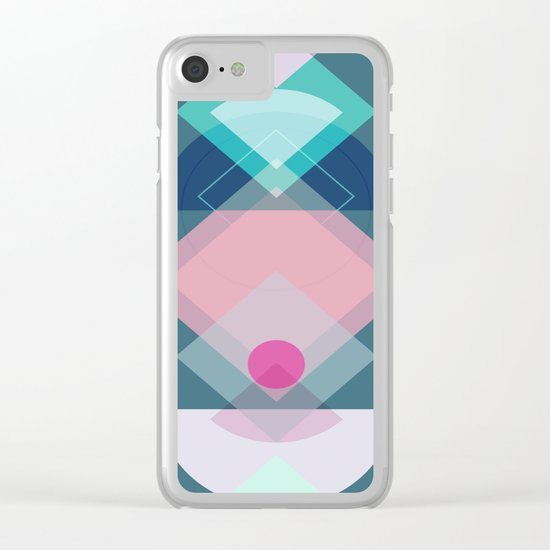 Geometric Play 1 Clear iPhone Case