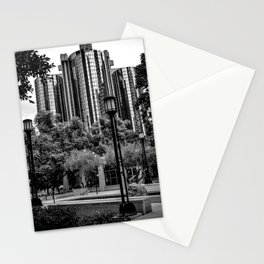 Maguire Garden Towers (b&w) Stationery Cards