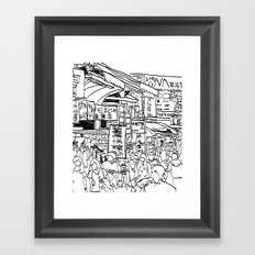 Taiwan Street Framed Art Print