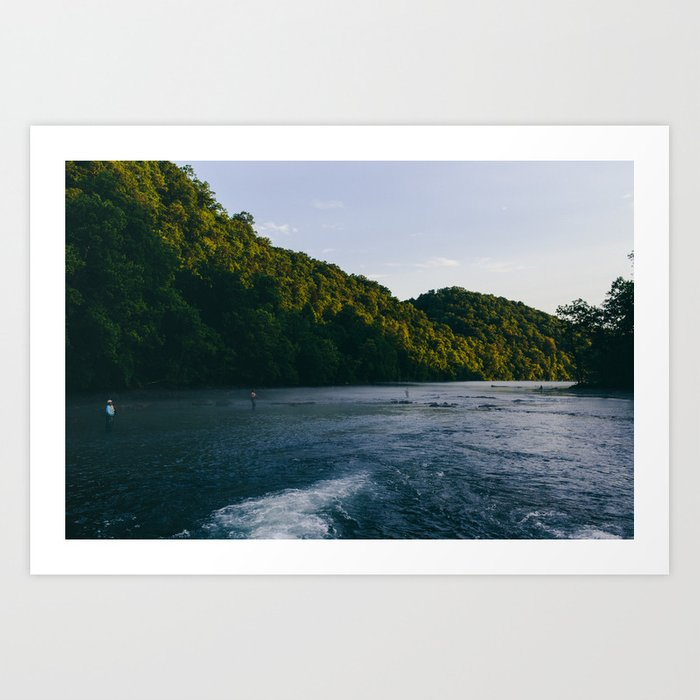 Fishing Outside Knoxville, TN Art Print