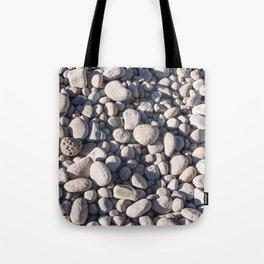 River stones on bank of Oregon river Tote Bag