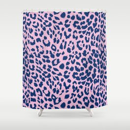 Pink Leopard Skin Shower Curtain