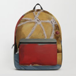 Some bears like rough games Backpack