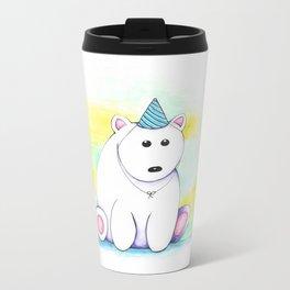 Birthday Bear Metal Travel Mug