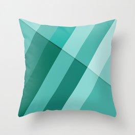 Cyan modern geometric lines Throw Pillow