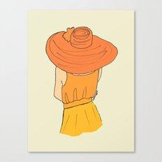 Orange Ombré Canvas Print