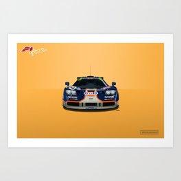 McLaren F1 GTR #02R - 1995 Le Mans 4th place - Front View Art Print