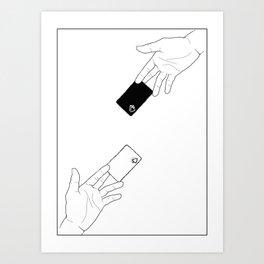 Spades (Border) Art Print