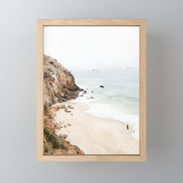 Malibu California Beach Framed Mini Art Print