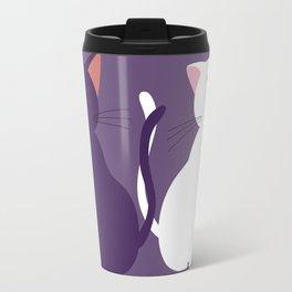 Luna & Artemis (Minimalist) - Purple Travel Mug