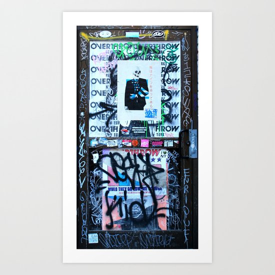 East Village Graffiti Door Art Print