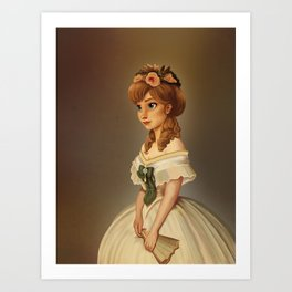 Anna of Arendelle Royal Painting Art Print