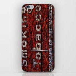Tobacco and Bricks iPhone Skin