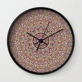 Magical Mandala Garden Wall Clock