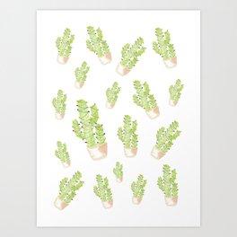cactus christmas tree Art Print