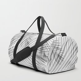 Black and White Tropical Palms Duffle Bag