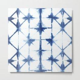 Shibori Diamonds Metal Print