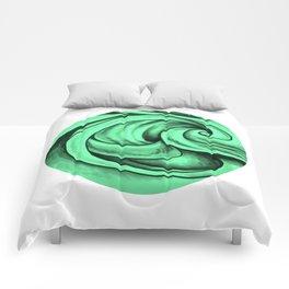 Swirl Circle (green) Comforters