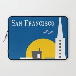 San Francisco, California - Skyline Illustration by Loose Petals Laptop Sleeve