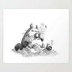 Ghibli Coffee Art Print