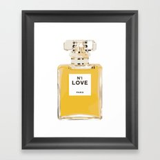 Fashion Perfume Bottle Framed Art Print