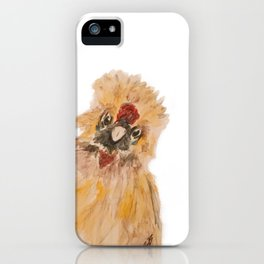 Jefe the Silkie Chicken iPhone Case