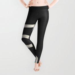 abstract minimal 57 Black & White Leggings