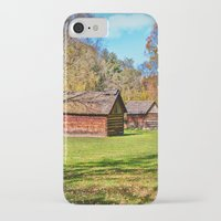 allyson johnson iPhone & iPod Cases featuring Johnson City Tennessee Cabins by Mary Timman