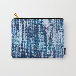 Indigo Surface Texture Carry-All Pouch