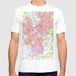 Vintage Map of Cedar Rapids Iowa (1967) T-shirt