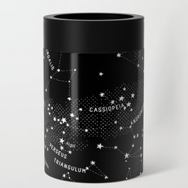 Constellation Map - Black Can Cooler
