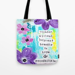 WANDER WITHOUT JUDGEMENT Tote Bag