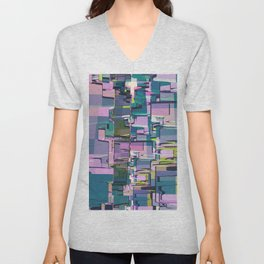 Abstract Composition 641 Unisex V-Neck
