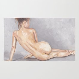 Nude on Floor (from behind) Rug