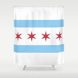 Chicago City Flag Shower Curtain