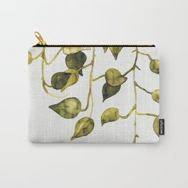 Golden Pothos - Botanical ink painting Carry-All Pouch