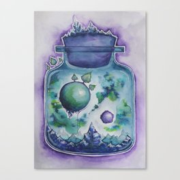 Galaxy in a Bottle Canvas Print