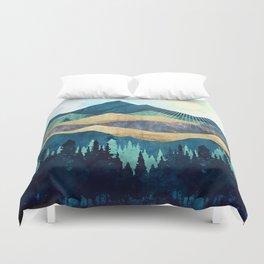 Blue Forest Duvet Cover