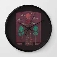The Towering Bed and Breakfast of Unparalleled Hospitality Wall Clock