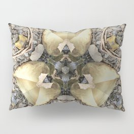 A Patterned Ground Pillow Sham