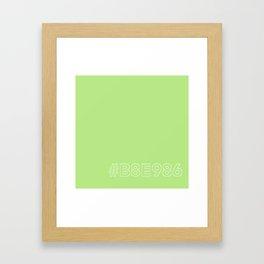 #B8E986 [hashtag color] Framed Art Print