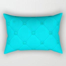 Aquamarine Blue Diamond Tufting Pattern Rectangular Pillow