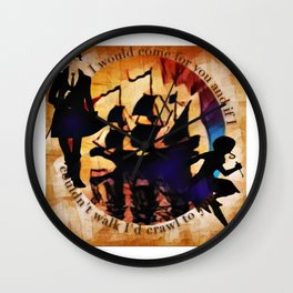 Kaz and Inej - crawl Wall Clock