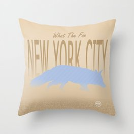 What The Fox - New York City Throw Pillow