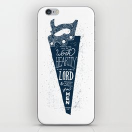 4/52: Colossians 3:23  iPhone Skin