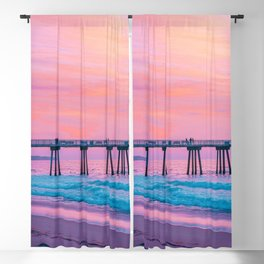 Hermosa Beach Pier California United States Ultra HD Blackout Curtain